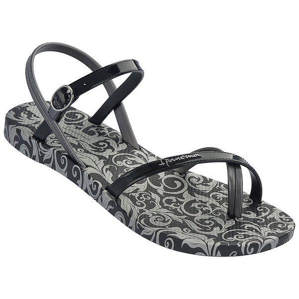 Dámské černé vzorované sandály Ipanema