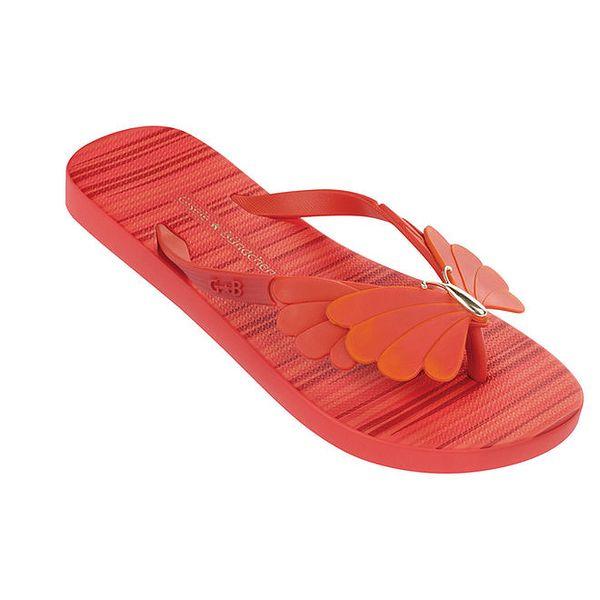 Dámské červené žabky s motýlkem Ipanema