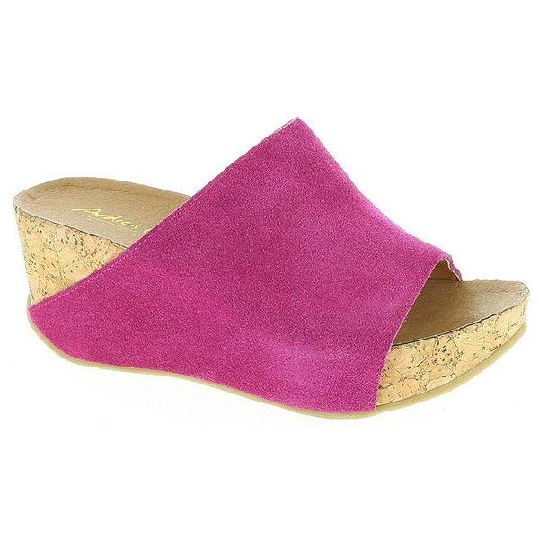 Dámské fuchsiové nazouvací sandály Andrea Conti