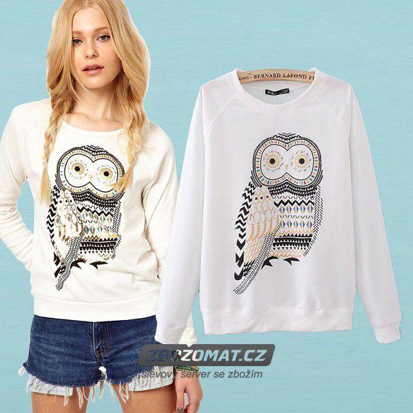 Romantická dámská mikina Owl!