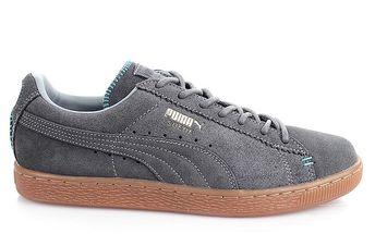 Pánské šedé prošívané boty Puma