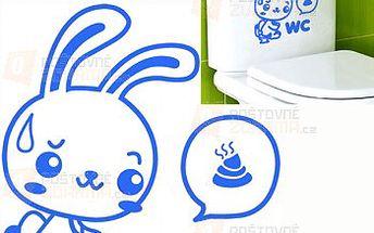 Samolepka na WC - králíček a poštovné ZDARMA! - 9999915650