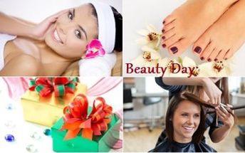 4hodinový BEAUTY DAY pro ženy. 2 varianty PÉČE včetně střihu, kosmetiky, masáže. Tip na dárek!