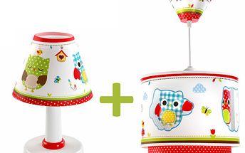 Sada Sovičky - stolní lampa a stropní svítidlo