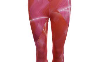 Dámské růžové vzorované fitness legíny Puma