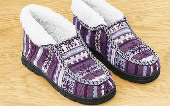 Příjemné teple boty beránek