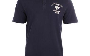 Pánské modré polo triko s potiskem Puma