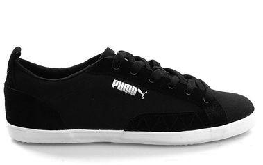 Pánské černé boty s bílou podešví Puma