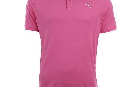 Pánské růžové polo triko Puma