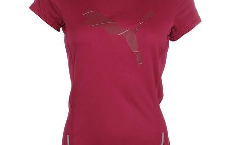 Dámské tmavě růžové fitness tričko Puma