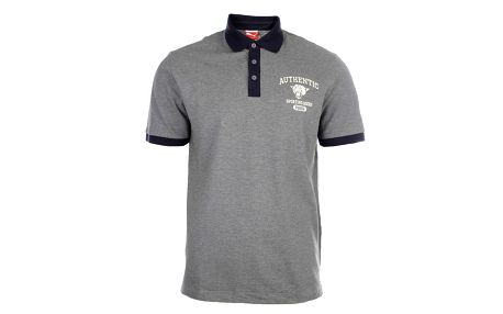 Pánské šedé polo triko s potiskem Puma