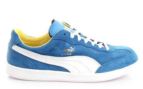 Pánské semišové modré tenisky s bílými prvky Puma