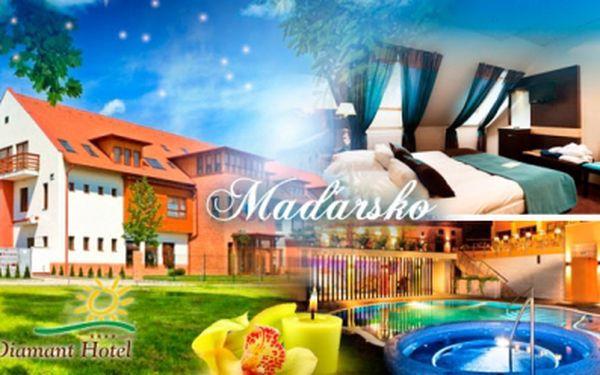 MAĎARSKO! Pobyt na 3 nebo 4 dny pro 2 osoby s polopenzí v luxusním 4* hotelu Diamant s neomezeným wellness!