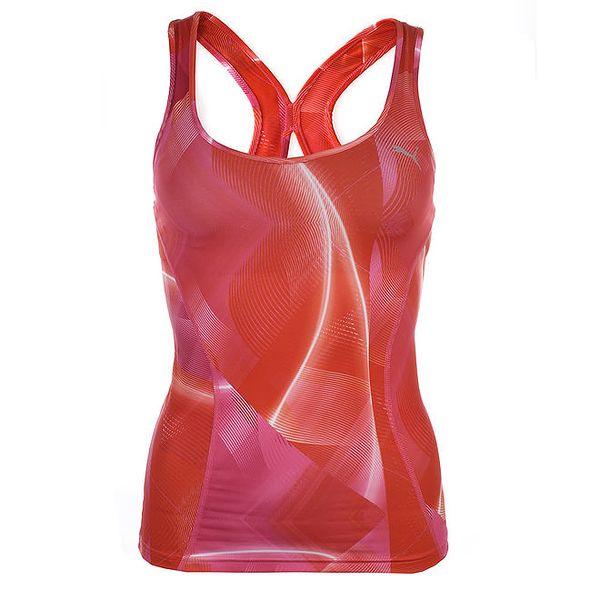 Dámské červeno-růžové sportovní tílko Puma