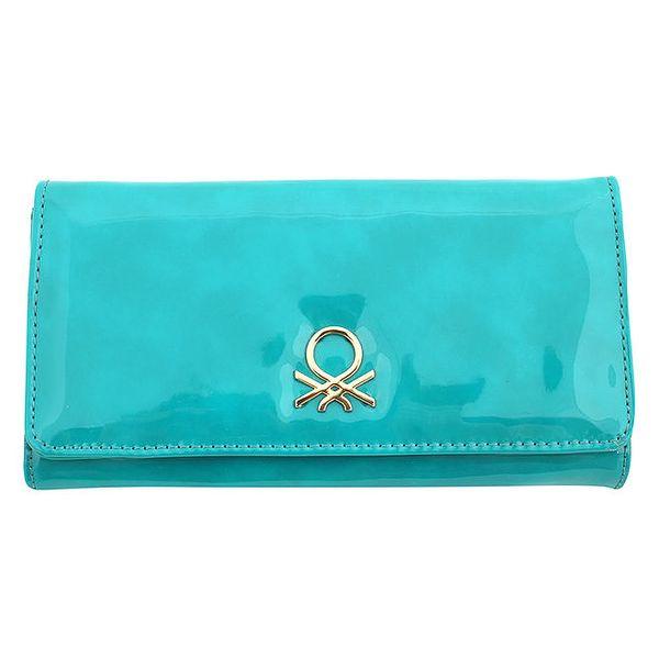 Dámská tyrkysová lesklá peněženka United Colors of Benetton