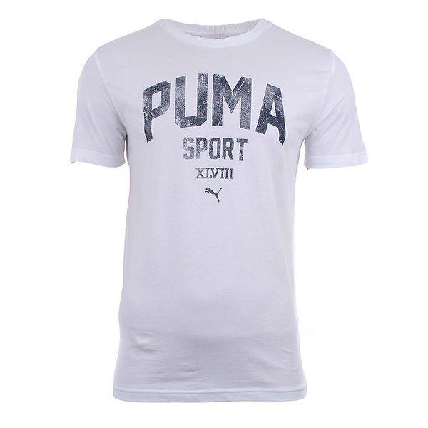 Pánské bílé tričko s nápisem Puma