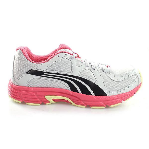 Dámské šedo-černo-růžové tenisky Puma