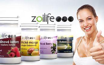 Doplňky stravy pro zdraví zn. Zoilife! Africké mango, Acai Beery, Malinový keton nebo pro energii Kofein!