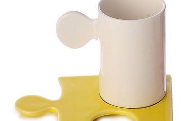 Porcelánový hrnek Puzzle White/Yellow