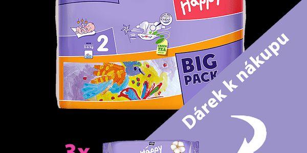 3x BELLA HAPPY Mini 3-6 kg, Big Pack 234 ks (3x78ks) - jednorázové pleny