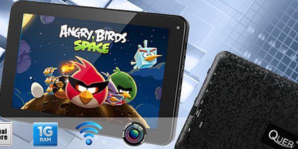 """9"""" tablet Quer: do práce, do školy i na hraní! 2jádrový procesor, HD displej."""