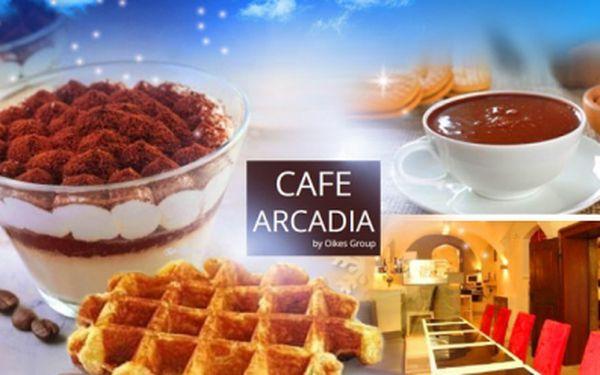 Luxusní kavárna pod Pražským hradem! Výběr ze 3 menu, třeba Foccaccia Caprese, nápoj a wafle s karamelem!