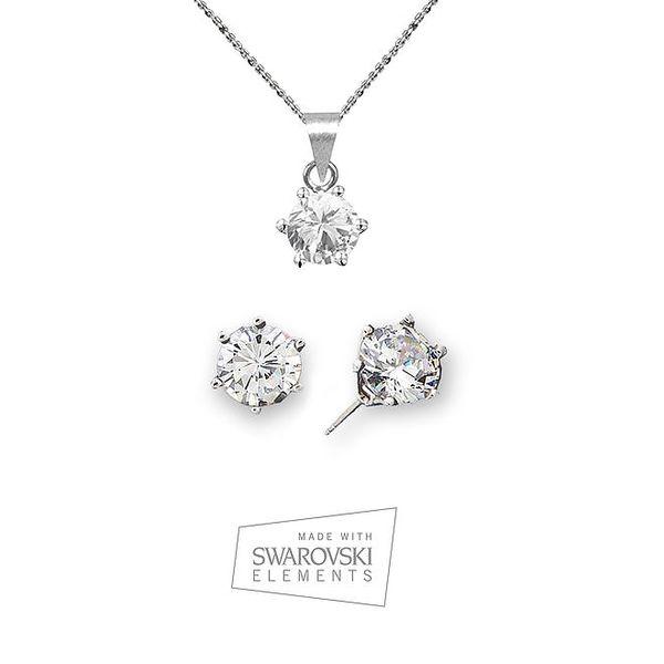 Dámská sada šperků s kamínky Swarovski Elements - náušnice a náhrdelník