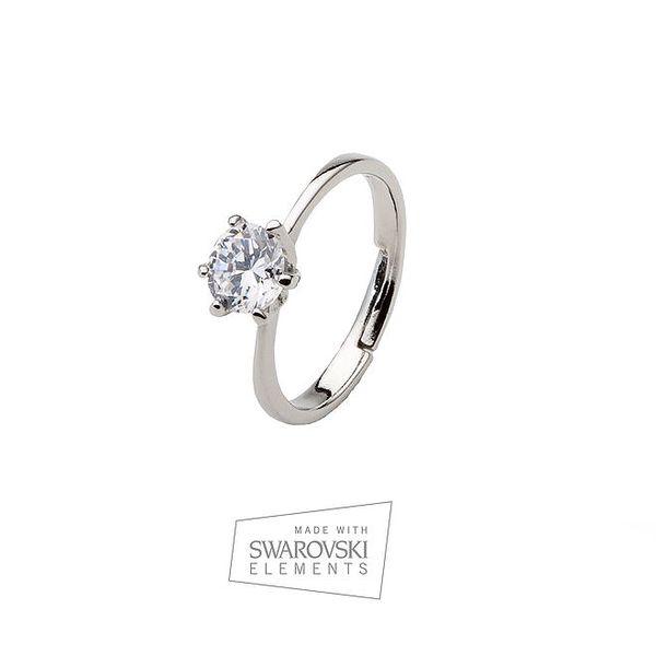 Dámský prsten s kamínkem Swarovski Elements