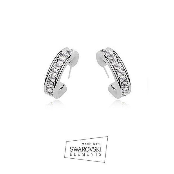 Dámské náušnice ve stříbrné barvě s kamínky Swarovski Elements
