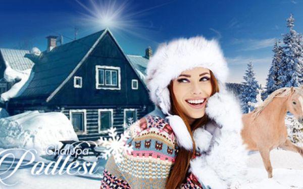 Pobyt na 4 dny se snídaní nebo POLOPENZÍ v útulné chaloupce Podlesí v Jizerských horách! Užíjte si zimu!