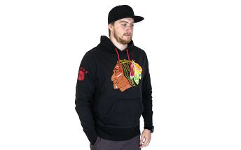 Mikina s kapucí 47 Brand Sure Shot Scrimmage Chicago Blackhawks Hoody Black