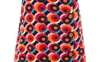 Dámská sukně s retro barevným vzorkem Purple Jam