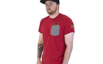 Triko 47 Brand Sneak Tip Chicago Blackhawks Red