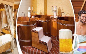 Privátní wellness i pivní lázeň pro dva