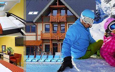 Slovensko - Thermal park Bešeňová Gino Paradise - luxusní apartmány na 5 nebo 7 dní pro 2 osoby ve 4* hotelu Luka - ubytování přímo v komplexu thermal parku s výhledem do celého areálu!!! Slevy na vstupy do bazénů a děti do 6 let zdarma!