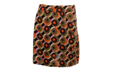 Dámská vzorovaná sukně s knoflíky Purple Jam