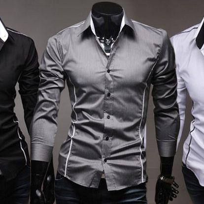 Stylová pánská košile Slim-fit