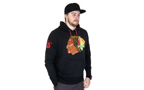 Mikina s kapucí 47 Brand Sure Shot Scrimmage Chicago Blackhawks Hoody Black