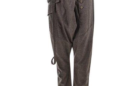 Dámské kalhoty na knoflíky Purple Jam
