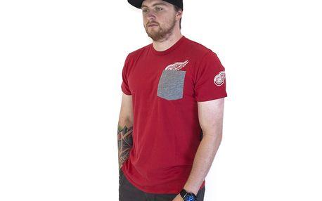 Triko 47 Brand Sneak Tip Detroit Red Wings Red červen