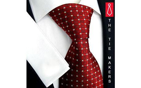 Manažerská kravata Beytnur 58-1 červená kostička