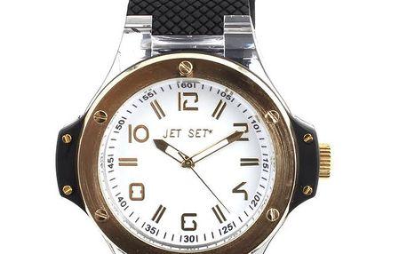 Dámské analogové hodinky Jet Set s černým silikonovým páskem