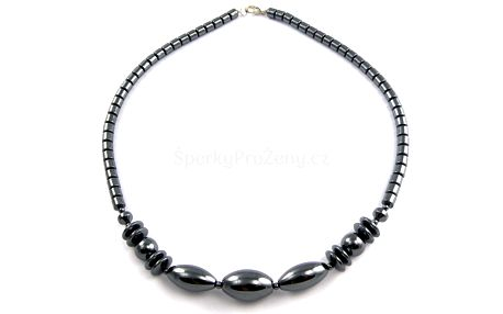 Krásný černý náhrdelník z hematitu