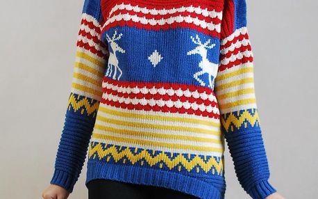 Dámský pletený svetr se sobíky