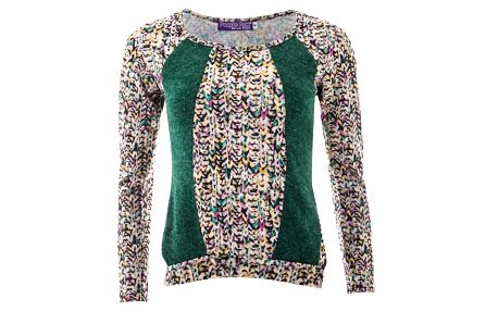 Dámské barevné tričko se zelenými pruhy Purple Jam