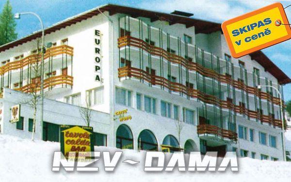 Hotel Europa, Monte Bondone, Itálie, vlastní doprava, polopenze