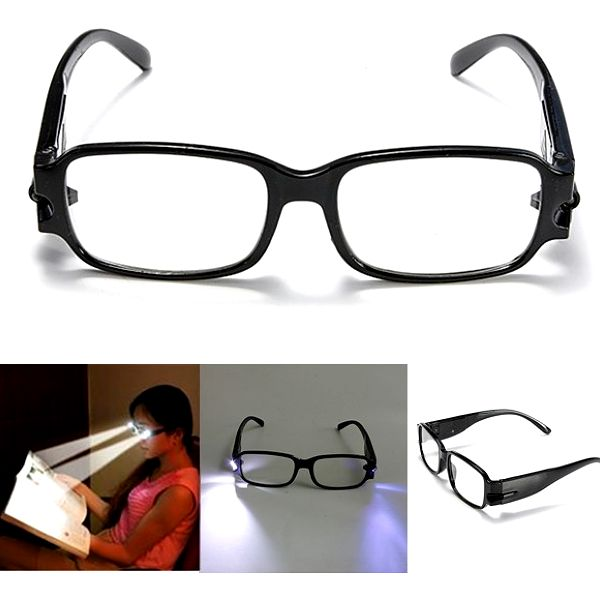 Dioptrické brýle na čtení s LED osvětlením - na výběr z 6 dioptrií