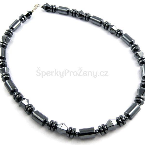 Elegantní náhrdelník z hematitu