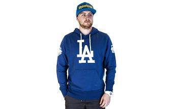 Mikina s kapucí 47 Brand Sure Shot Scrimmage Los Angeles Dodgers Hoody Bleacher Blue modrá / bílá L