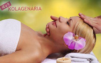Antistresová kosmetická masáž oličeje + 1 vstup do kolagenária zdarma